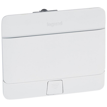 POP UP SOCKET BOX - GLOSSY WHITE - LEGRAND - 4 MODULES – 054031