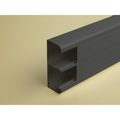 Snapon trunking Black Edition 50 x 130 mm 2 compartments « Back
