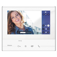 "BTICINO VIDEO INTERNAL UNIT CLASSE 300 V13E, 7"" LCD TOUCH  SCREEN, WHITE"