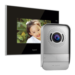 "Surface VIDEO INTERCOM LEGRAND and surface handsfree internal video unit with a 7"" colour display, reflective glass surface"