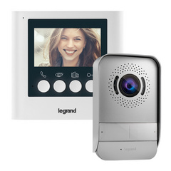 "Surface VIDEO INTERCOM and a surface handsfree internal video unit with a 4,3"" colour display, outdoor lighting white"