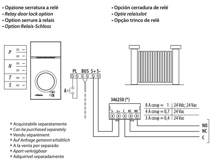 i avdio door entry kit bticino linea 3000 avdio c100 a12b 361511 bticino wiring diagram at soozxer.org