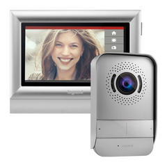 "Surface VIDEO INTERCOM BTICINO and surface handsfree internal video unit with a 7"" colour memory touchscreen, screensaver with clock..., different colour frames"