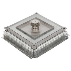 Plate for metal inscreed floor box IP 66 with central cable exit