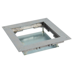 Heavy load support for metal inscreed floor box up to 20 KN