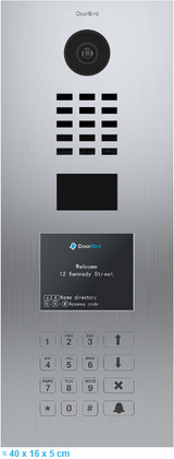 IP video door entry system DoorBird D21DKV