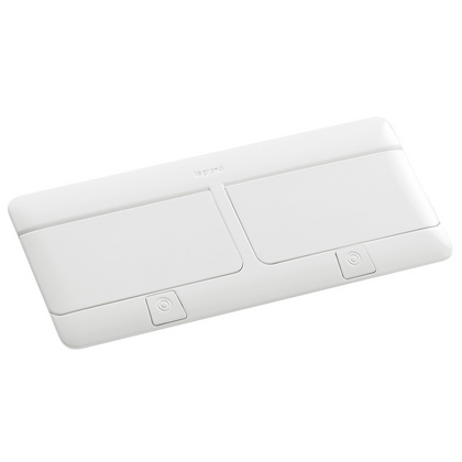 Pop-up flush-mounting box Legrand to be equipped - 8 (2x4) modules - glossy white - 654004