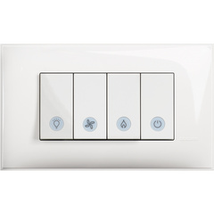 Bathroom Switch 4 modules - Complete product