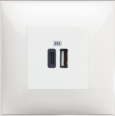 USB CHARGER MOD. 5V A / C 2M WHITE - SET