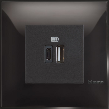 USB CHARGER MOD. 5V A / C 2M BLACK - SET