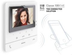 Bticino 344682 Classe100 X16E 2 WIRES / Wi-Fi handsfree video internal unit with inductive loop