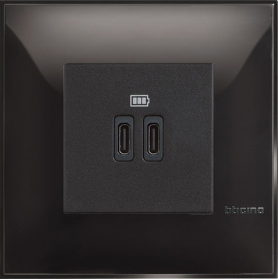 USB CHARGER MOD. 5V C 2M BLACK - SET